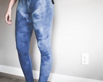 Shibori Indigo Dyed Leggings