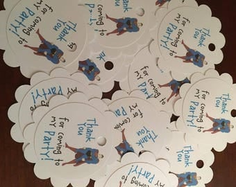 12 Superman Party Favor Thank You Tags (can be personalized)