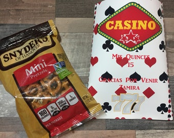 Casino Royal Chip   Bag // Treat / Party Favors