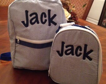Backpack and lunch box set, back to school, kindergarten, shower gift, diaper bag