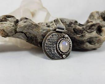 Crecent Moonstone pendent