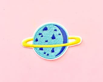 Saturn Iron On Patch, galaxy patch, outer space patch, science patch, cosmic patch, custom patch, rave clothing, festival clothing,
