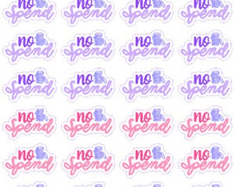 No Spend // Diary // Planner // Stickers