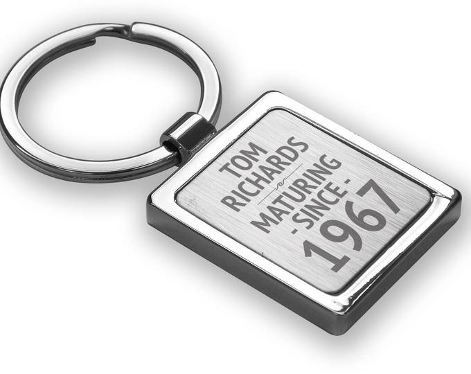 Personalised engraved Best ever 50th birthday KEYRING birthday gift, personalized metal keyring keychain - SRMA50
