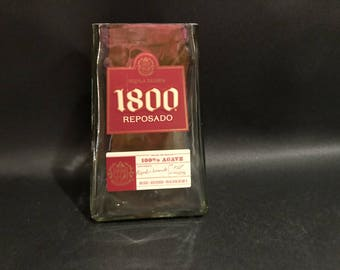 1 Liter 1800 Silver Tequila Candle Bottle Soy Candle. Made To Order !!!!!!! 1 Liter vs 750ML