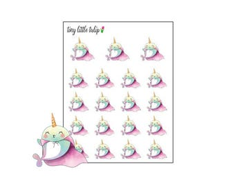 Planner Stickers Narwhal In A Cape