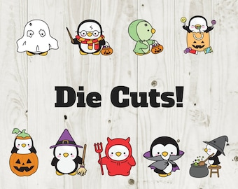 Die Cut Stickers Halloween Penguin Die Cuts