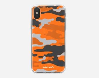 Camo Orange iPhone Case 6 / 6s / 7 / 8 / PLUS / X