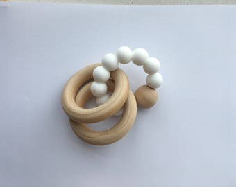 White Rattle Teether