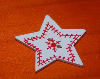 button Christmas Star 5 branches