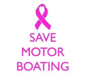 Save Motor Boating Breast Cancer Awareness SVG File Instant Download for Silhouette Cricut