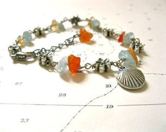 Camino travel bracelet de Santiago - Shell + Heart