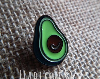 Enamel Avocado Pin Brooch Vegan Vegetarian Cute Gift Present