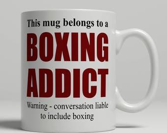 Boxer mug, funny boxing mug, boxing gift idea, mug for boxer birthday gift, boxing birthday gift idea, boxing addict mug, EB addict boxing