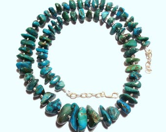 925 silver necklace and natural turquoise