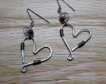Swinging Heart Earring Set
