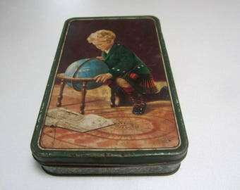Vintage Australian Confectionery Tin by MacRobertson's Melbourne 'STUDY' 1940's
