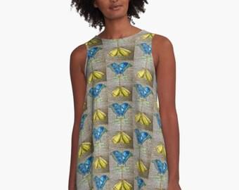 Little Creatures Patterned Dress - original art