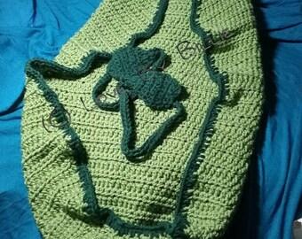 Crochet Pea Pod Cocoon
