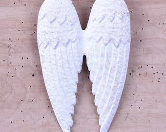 Angel Wings, metal angel wings, white, distressed, shabby chic, rustic, white wings