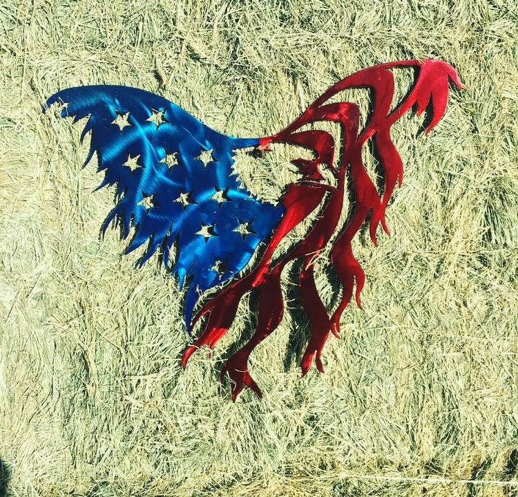 Metal American Eagle Flag. Metal American Flag Wall Art ...