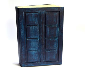 Doctor Who A5 notebook,River Song's Journal, River Song's Book , Tardis Notebook, , diary handmade,  Journal, Travel Book, dr who blue notes