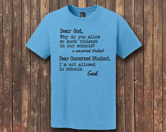 Letter to God-Concerned Student: Youth District® - The Concert Tee®