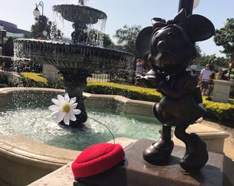 Vintage Minnie Mouse -INSPIRED Pillbox Hat