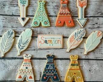 Tribal sugar cookies