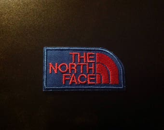 "3"" The North Face logo blue/red iron on patch Free USA shipping!"