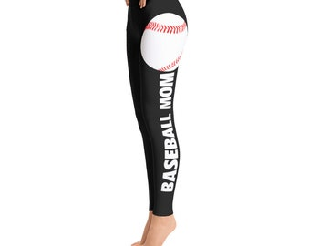 Baseball Mom Leggings -Toddler Leggings - Printed Leggings - Cut out Leggings - Yoga Leggings - Gift for mom