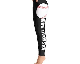 Baseball Mom Leggings -Toddler Leggings - Printed Leggings - Cut out Leggings - Yoga Leggings - Gift for mom