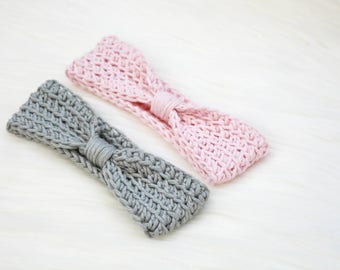 Babies cotton headband- cute baby head band -hair tie - toddler headband - baby headband- newborn headband