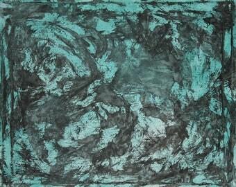 Black Ink on Teal (#35)
