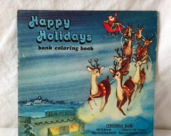 1978 Happy Holidays Bank Mini Coloring Book