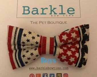 Dog Bow Tie 4th of July