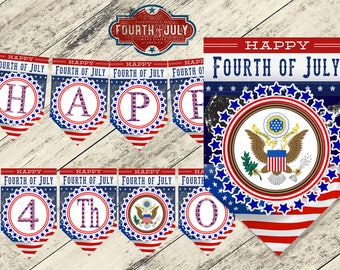 4th of july banner, 4 of july banner,4th of july party, banderolas 4th of july,Patriotic banner 4th july,4th july flags,4th of july,banner