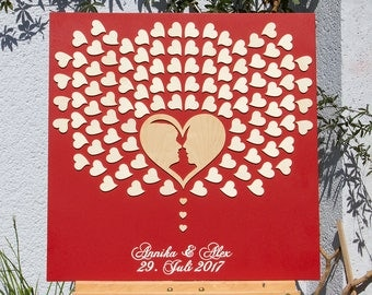 Wedding Tree Guestbook alternative 3D Profile picture bride and groom
