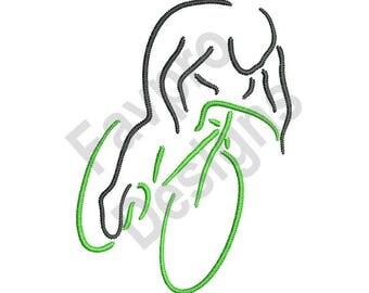 Bicyclist - Machine Embroidery Design