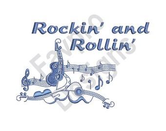 Rockin And Rollin - Machine Embroidery Design