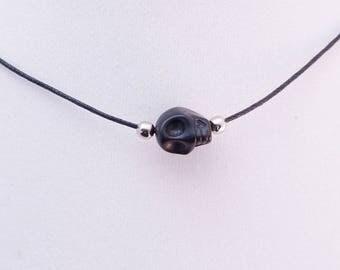 Skull Choker necklace - Black