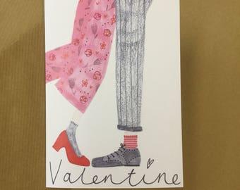 Kiss valentines card