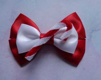Candy Cane Bow | Christmas Inspired | Christmas Hair Bow