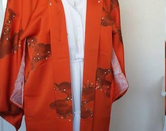 Vintage Japanese silk kimono jacket / haori...unworn!