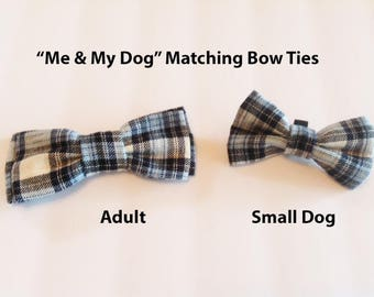 Bow Tie, Mens Bow Tie, Dog Bow Ties, Matching Dog Bow Tie, Dad and Son Bow Tie,  Valentines Bow Tie, Dog Bowtie, Bowtie, Boys Bow Tie  DS750