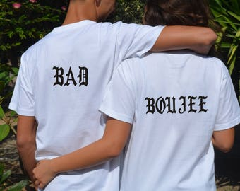 Bad Boujee Me And My Wife Gifts For Married Couples Matching Couple Shirts Couple Matching Shirts Best Couple Gifts Couple Tee Shirts