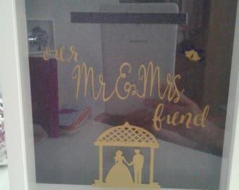 Wedding bank frame box