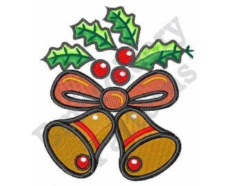 Christmas Bells - Machine Embroidery Design