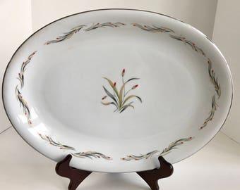 "Vintage Hira Fine China Japan Nora Pattern 4181 16"" Serving Platter"
