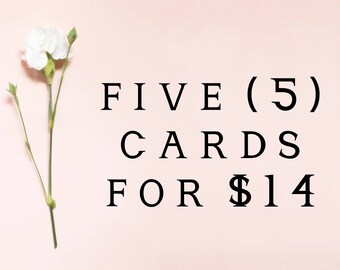 Pick 5 cards for 14 wedding cards, proposal cards, wedding day cards, mix and match cards for wedding